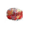 Lamp Bead Falling Leaf 2Pc 21x18mm Crimson Sea
